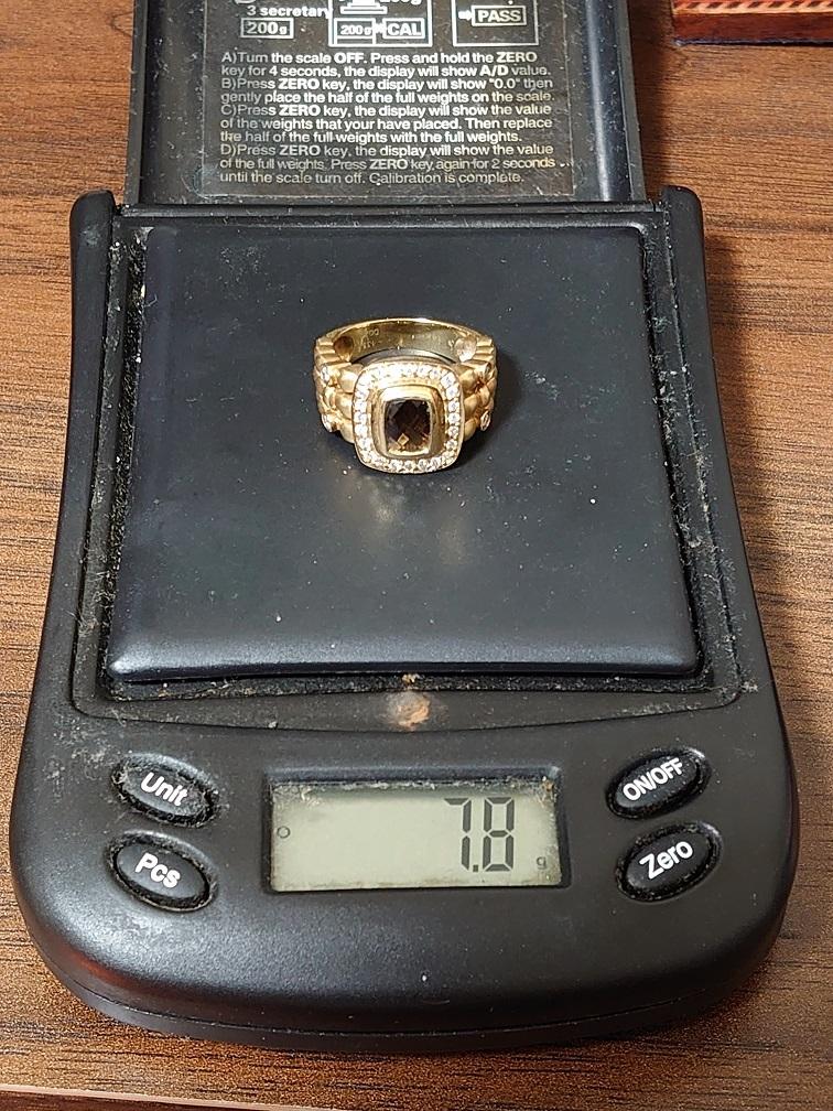 本物 14K 宝石付きリング 7.8g ダイヤ0.28ct_画像5