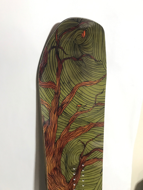 OUTFLOWsnowboards BigTree 158 DKC Graphic / 2008-2009 モデル  新品!! デッドストック!!_画像3