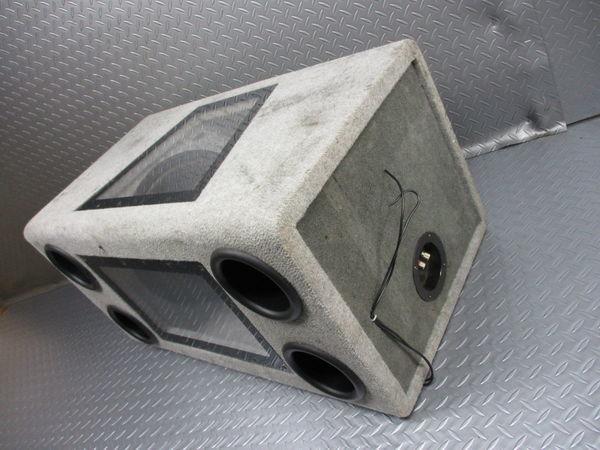 WR Sound System WRサウンドシステム ウーハー ウーファー ボックス 汎用 即納 ジャンク_画像6