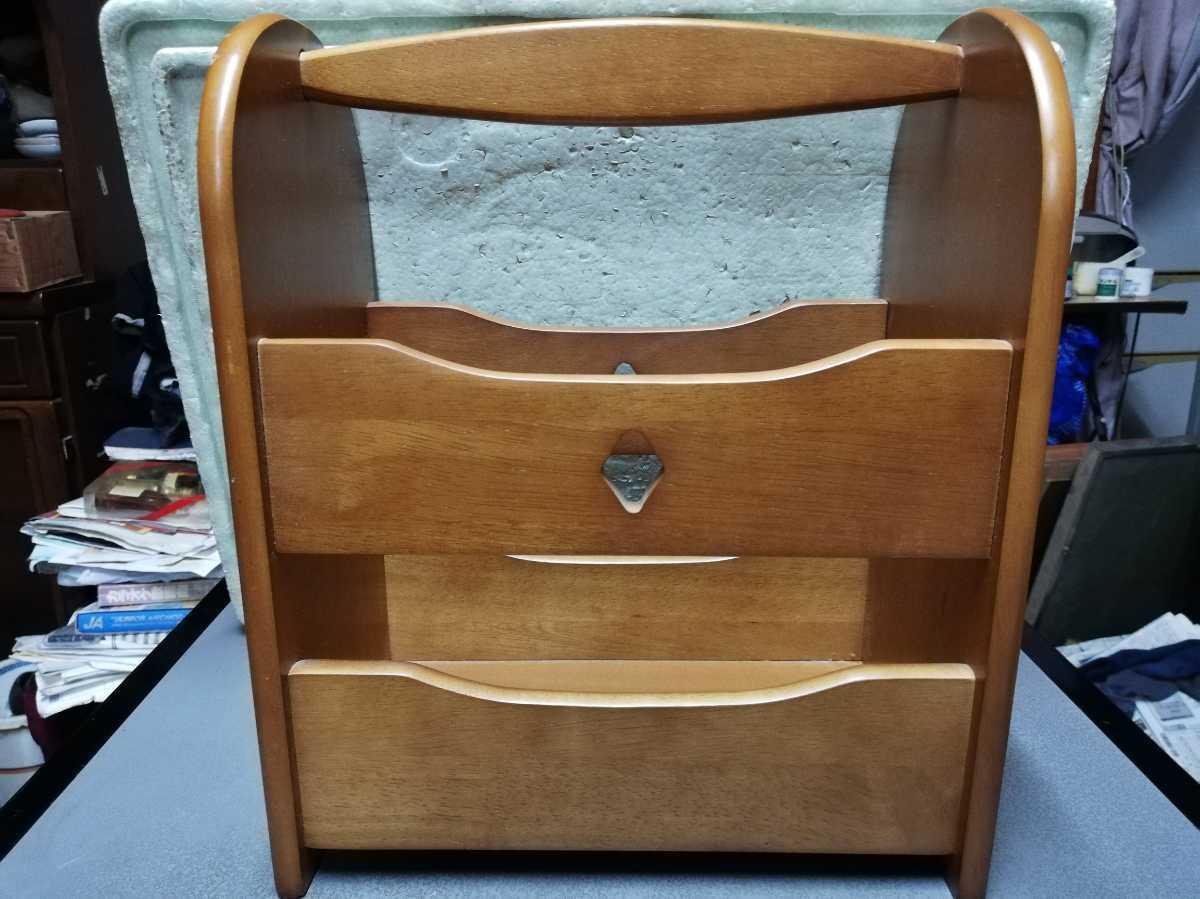 昭和レトロ アンティーク 収納箱 本棚 木製品 横29.5奥行き18㎝高さ35㎝ 同梱包可能_画像1