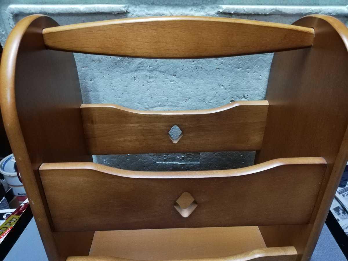 昭和レトロ アンティーク 収納箱 本棚 木製品 横29.5奥行き18㎝高さ35㎝ 同梱包可能_画像5