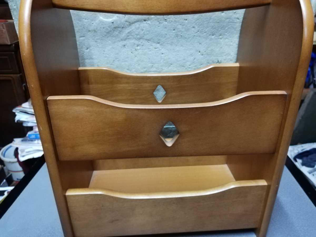 昭和レトロ アンティーク 収納箱 本棚 木製品 横29.5奥行き18㎝高さ35㎝ 同梱包可能_画像6
