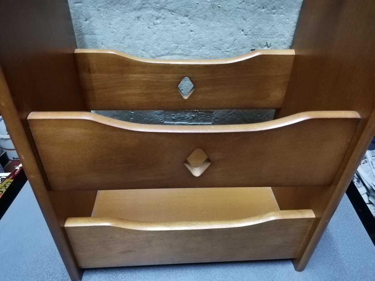 昭和レトロ アンティーク 収納箱 本棚 木製品 横29.5奥行き18㎝高さ35㎝ 同梱包可能_画像4