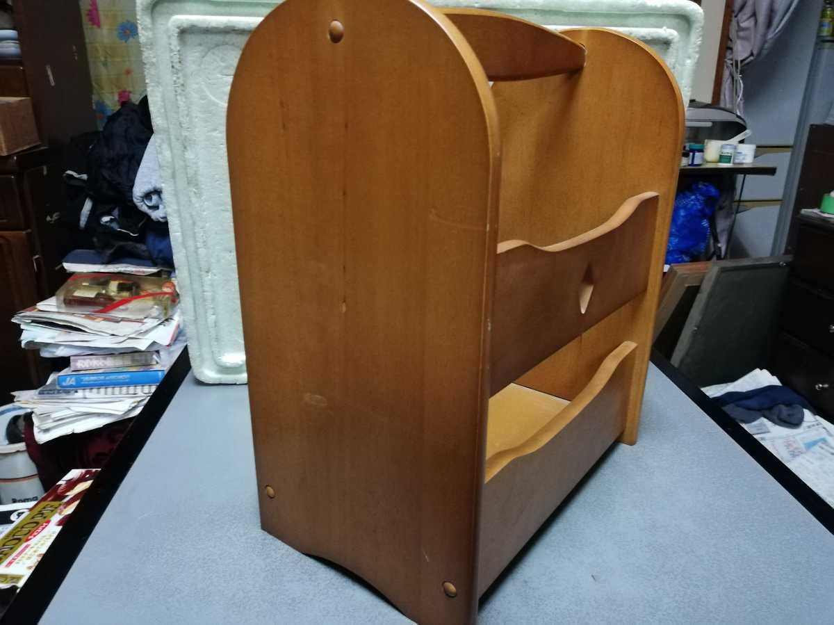 昭和レトロ アンティーク 収納箱 本棚 木製品 横29.5奥行き18㎝高さ35㎝ 同梱包可能_画像3