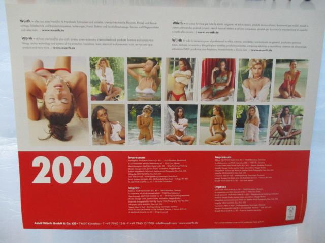 WURTH ウルト 2020 カレンダー ポスター 壁掛け 非売品 新品 未使用_画像7