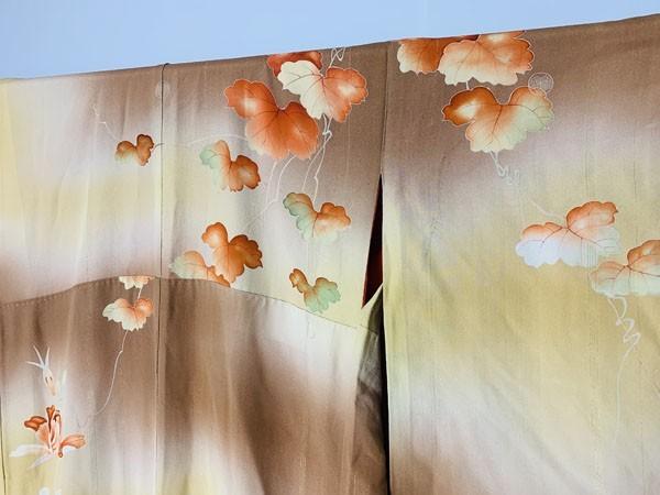 きものさらさ アンティーク 訪問着 茶 ブラウン 薔薇 刺繍 正絹 古布 KIMONO姫 モダン ヴィンテージ_画像7