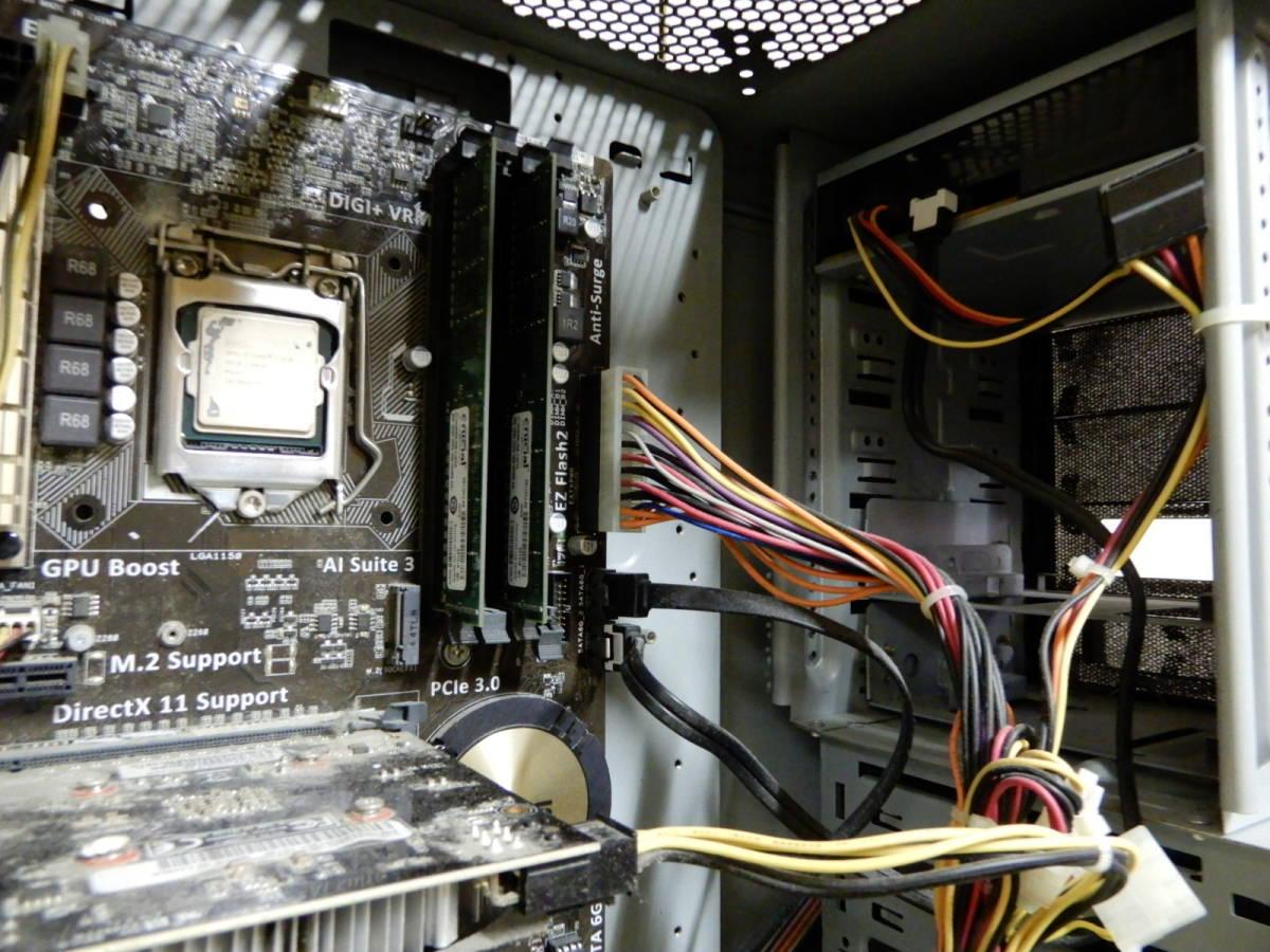 Diginnos GALLERIA Core i7-4790 16GB デスクトップPC ジャンク品 _画像8