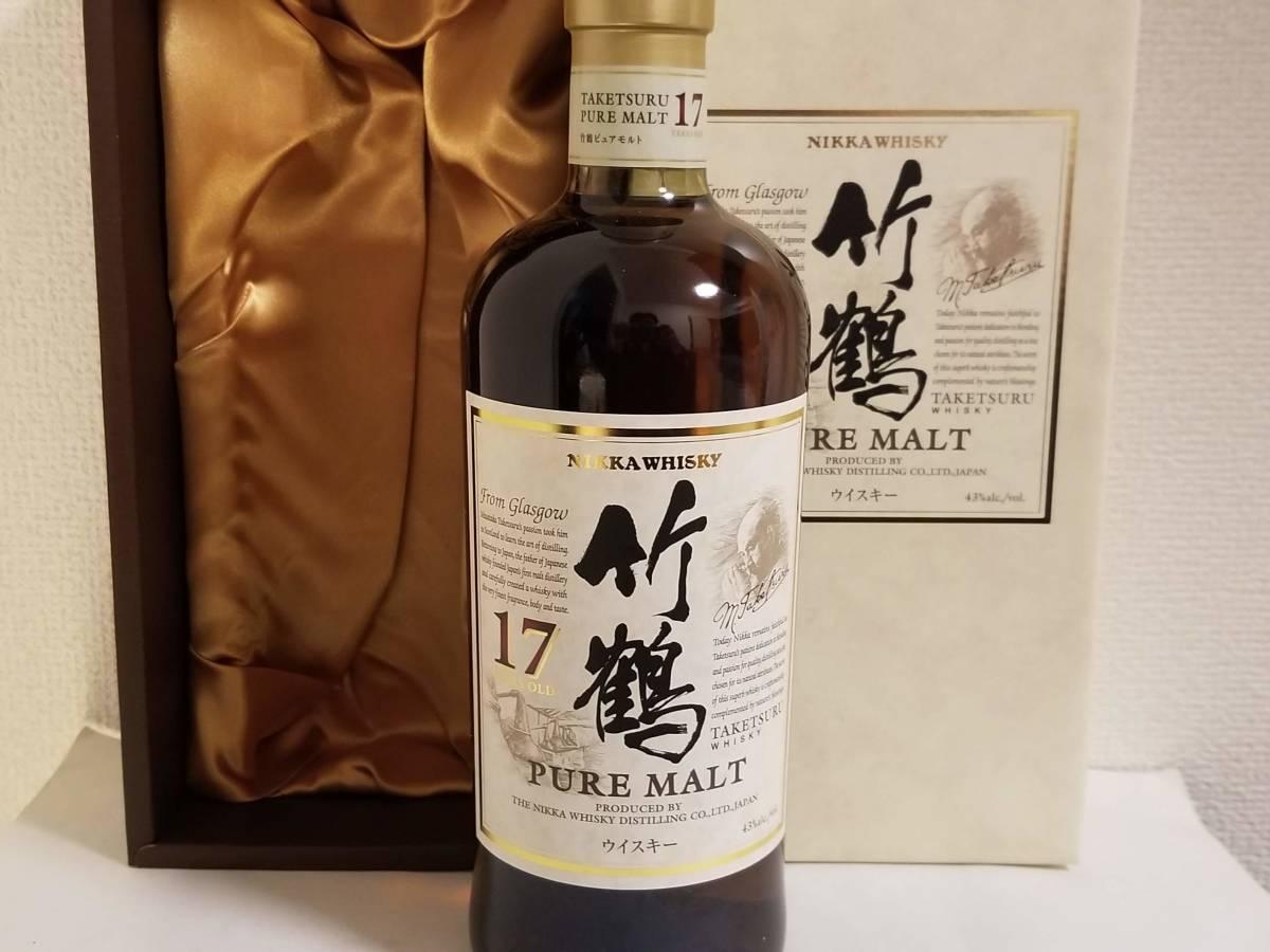 【終売】 竹鶴 17年 ピュアモルトウイスキー 豪華ギフトボックスつき 1本 700ml 43% 新品未開封 古酒