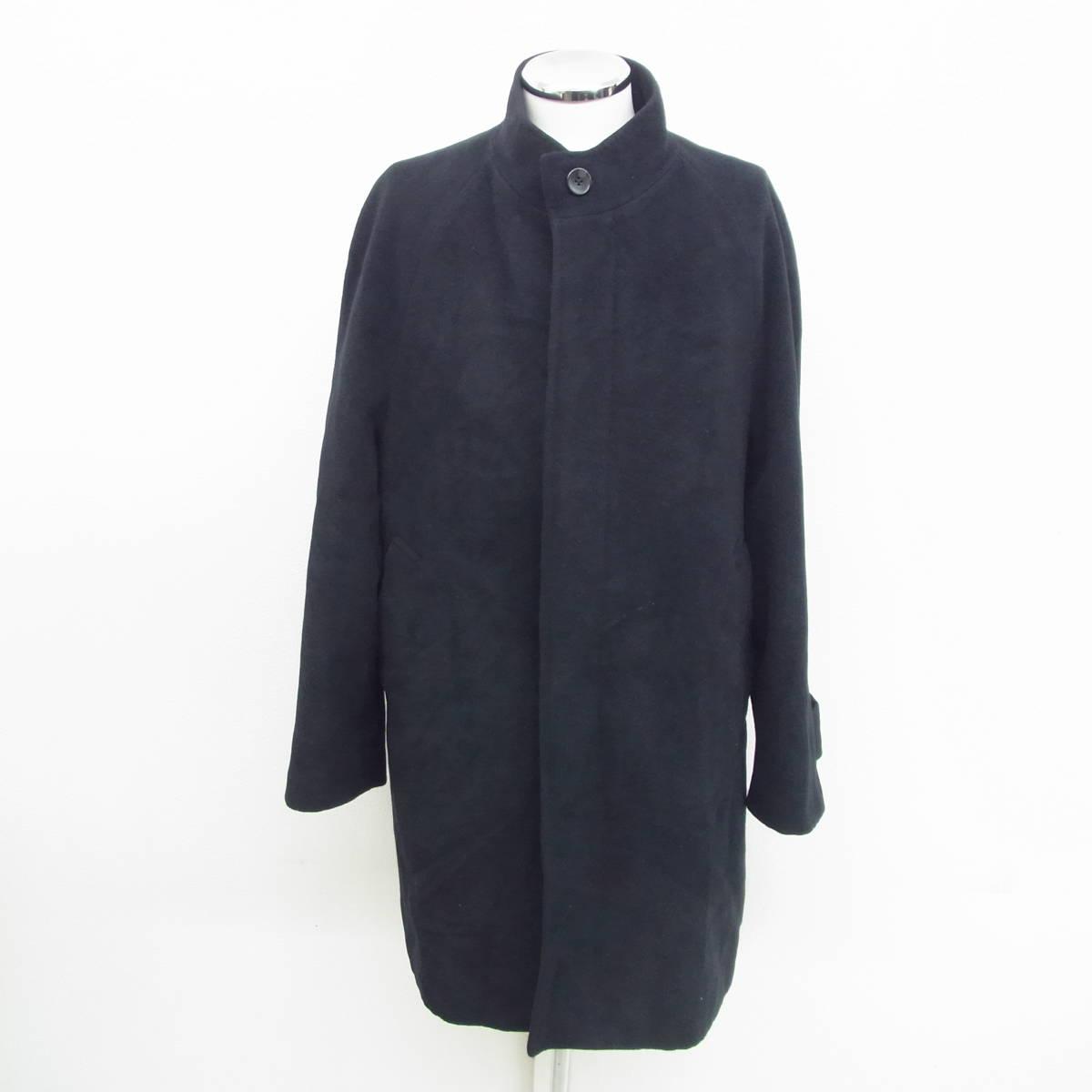 GIORGINI ジョルジーニ アンゴラ 混 コート ジャケット L size ブラック