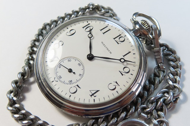 ★WALTHAM/ウォルサム 古い懐中時計 鎖付 現状中古品★