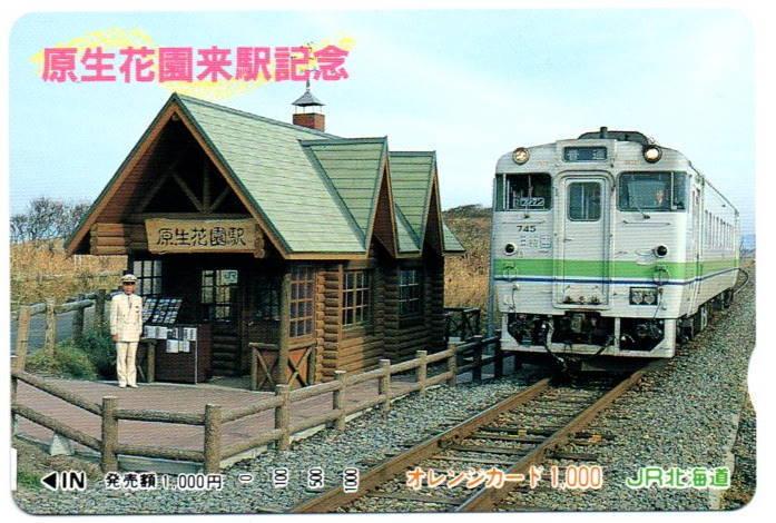 鉄道 JR北海道 原生花園駅 オレンジカード1000円_画像1