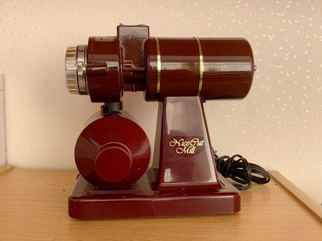 【ジャンク】Kalita カリタ Nice Cut Mill ナイスカッ?#21435;攛?KH-100 コンパクト コーヒー 電動式ミル 欠品有り動作未確認現状品 部品取り
