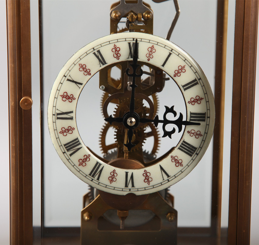 アンティーク 置時計 時打 銅製 動作確認 19cmX14cmX31cm