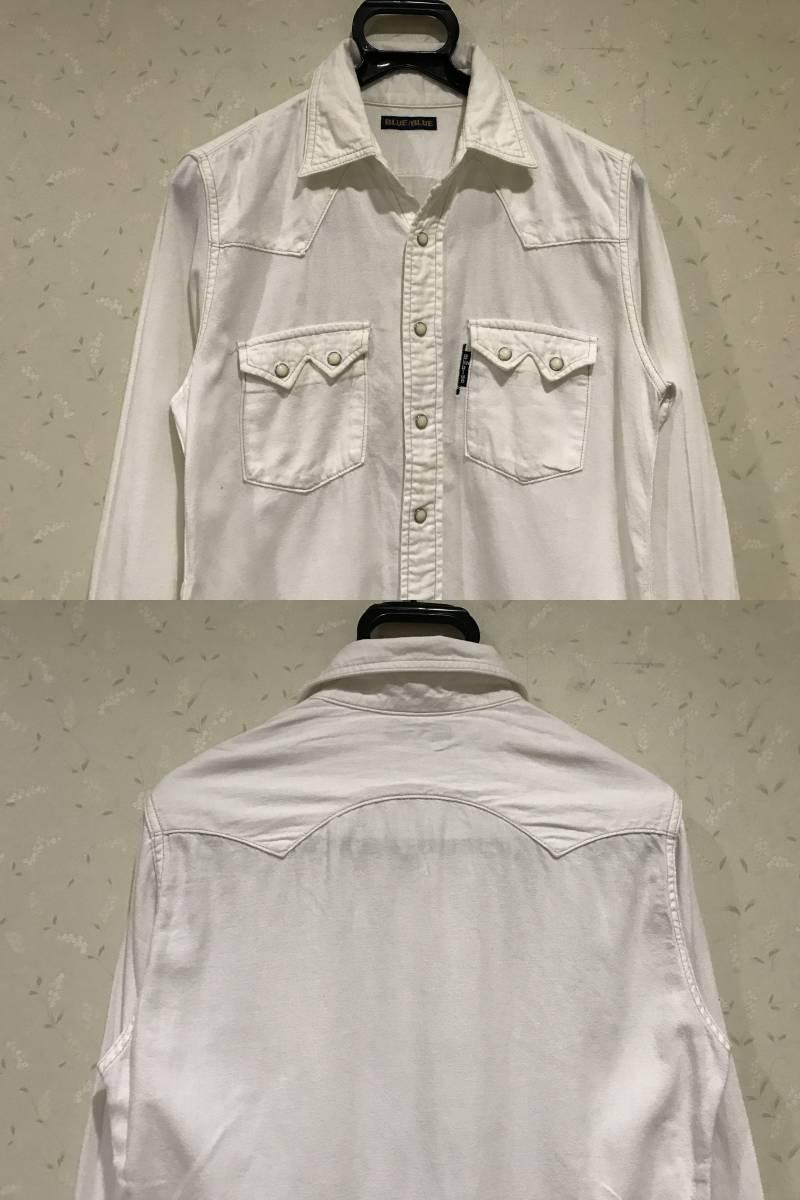 ハリウッドランチマーケット ブルーブルー BLUE/BLUE 聖林公司 長袖 ウエスタン シャツ ワークシャツ 1/S       BJBJ.A_画像3