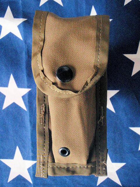 F300★米軍M9 ベレッタ ピストル用シングル マガジンポーチ/USMC米国海兵隊コヨーテカラーM9A1ハンドガン用マグポーチ/拳銃用弾納_写真と同等品をお送りいたします。