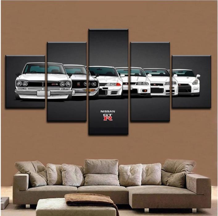 ★☆【大人気!!激安!!!】 スカイライン GTR ハコスカ ケンメリ 32 33 34 35 キャンバス アートポスター 壁紙 40x60 40x80 40x100cm☆★_画像1