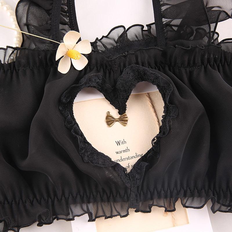 W148黒 セクシーランジェリーセット コスプレ衣装 メイド服 ベビードール ナイトウェア ルームウェア セクシー下着_画像6