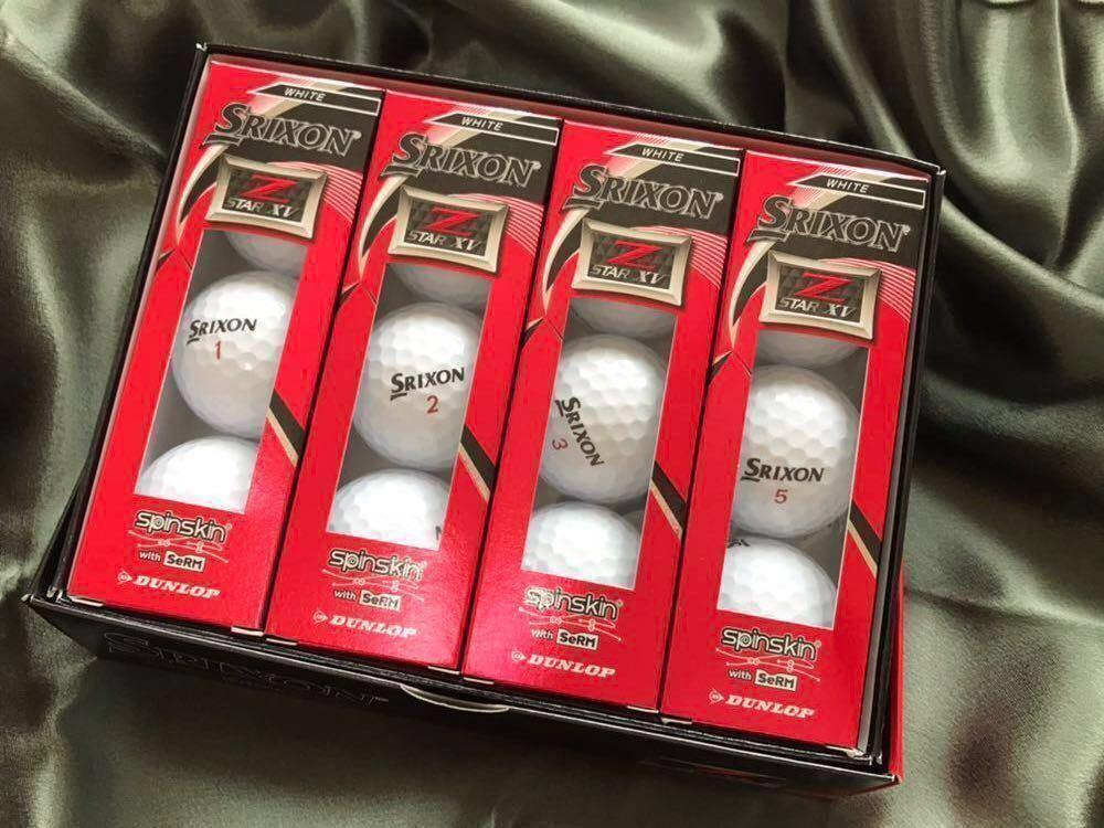 【新品】【送料無料】スリクソン SRIXON Z STAR XV ゴルフボール