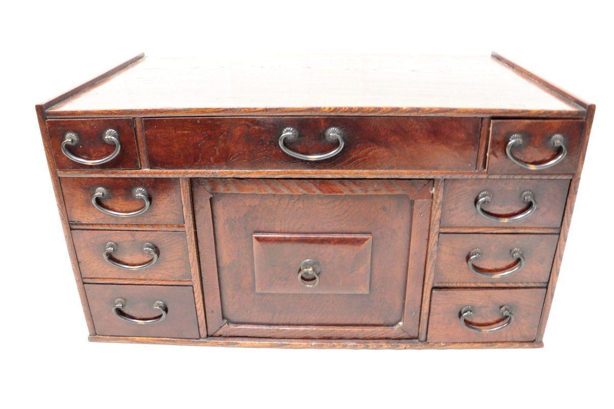 〇昭和レトロ 小引き出し 11段小箪笥 アンティーク 気密性抜群 木製 家具 レトロ 81FKF