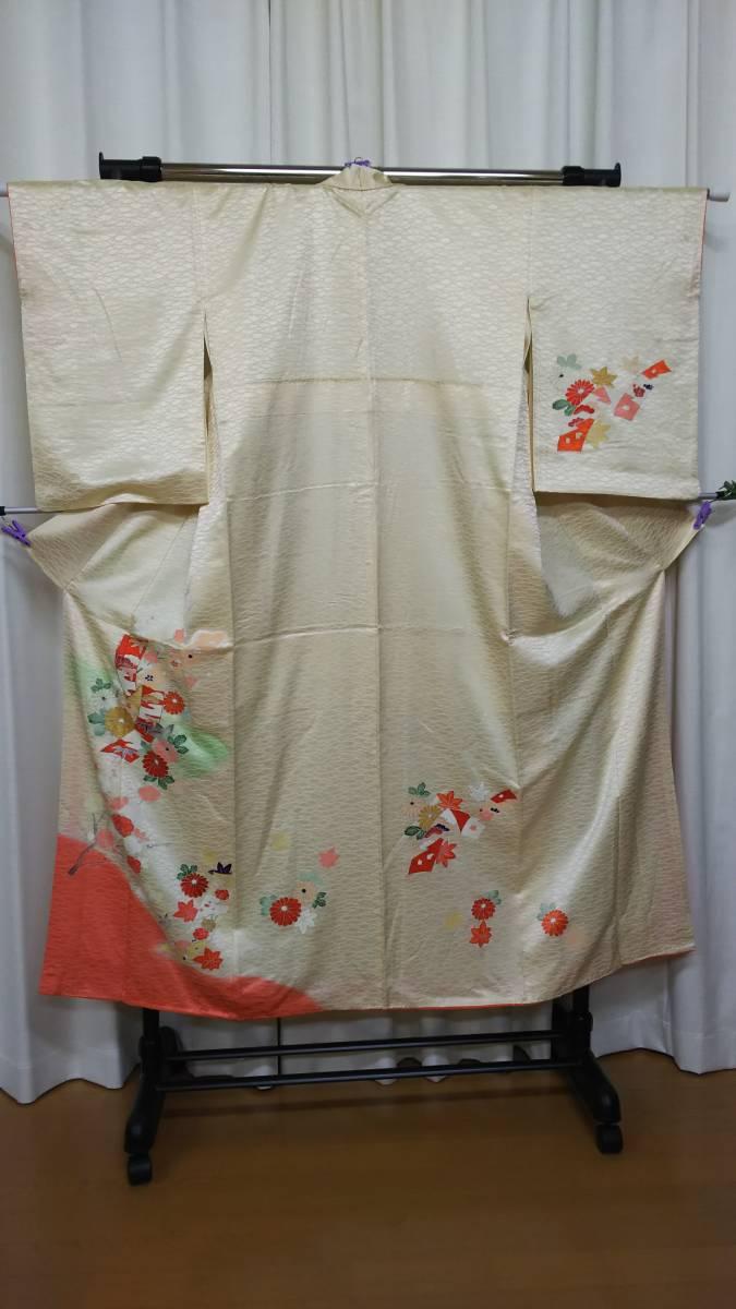 着物 訪問着 単衣 袋帯 春 新春 正絹 セット 時代劇物 演劇 練習 リメイク 着付け かわいい