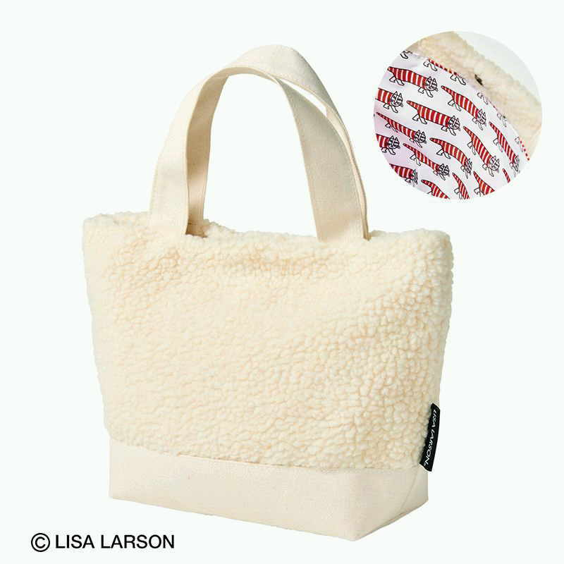 残1[セブンイレブン限定]steady(ステディ)LISA LARSON(リサラーソン)ボアバッグ+ポーチセット/2019年11月号増刊/付録/トートバッグ_画像2