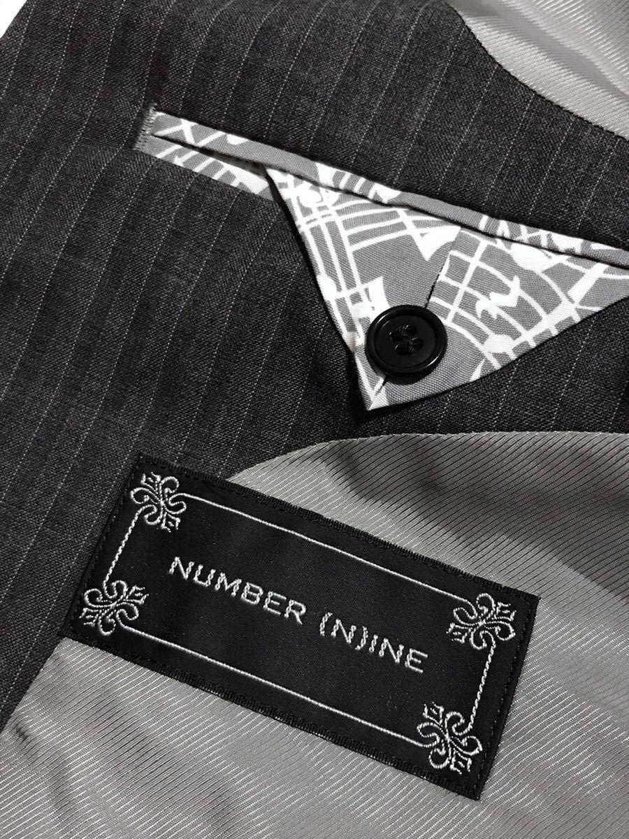NUMBER (N)INE ナンバーナイン ストライプ テーラード ジャケット 2 ハンガー付き