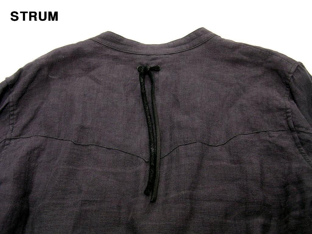 3 \29,700【STRUM ストラム リネンノーカラーシャツ グレー STC044-02-GRAY HEMP 麻 ヘンプ】_画像4