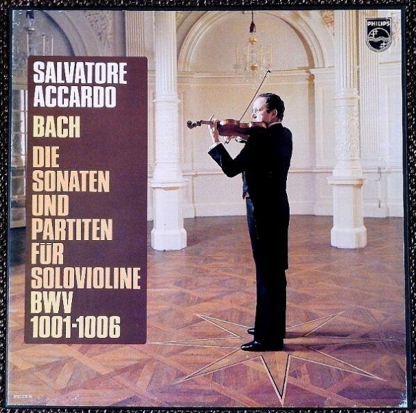 ★蘭PHILIPS 6703 076 3LP-BOX★))) STEREO ((( バッハ Bach Salvatore Accardo サルバトーレ・アッカルド !!!