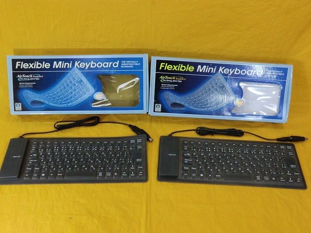 ♪♪H『PC関連即決SALE』未使用 Flexible キーボードまとめ 3点 ブラック FKBJ-109BK FKBJ-86BK 現状品♪♪_画像7