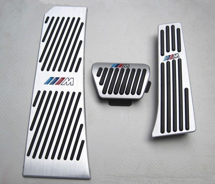 BMW アルミペダル 高品質 Mロゴ入り 取付け簡単 3ピース ※5 6 7シリーズ X3 X4 Z4 E60 E61 F65 E63 F01 F10 F11 F07 F06等