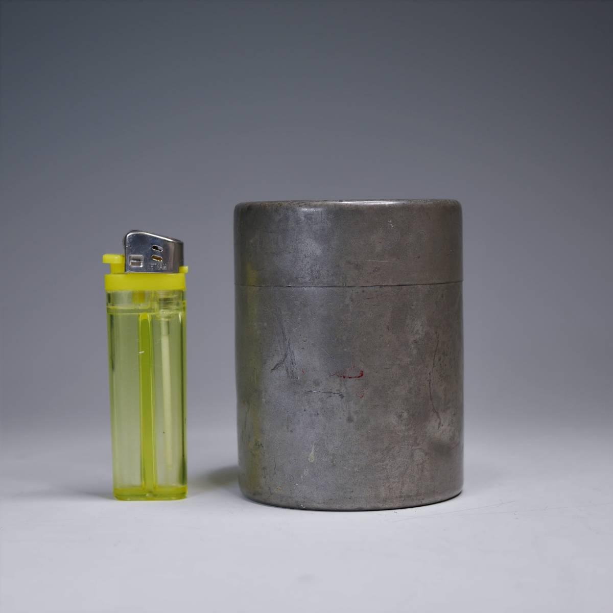 旧家から~◆ 錫製 茶筒【芳房】古錫 中国美術 煎茶道具 茶道具