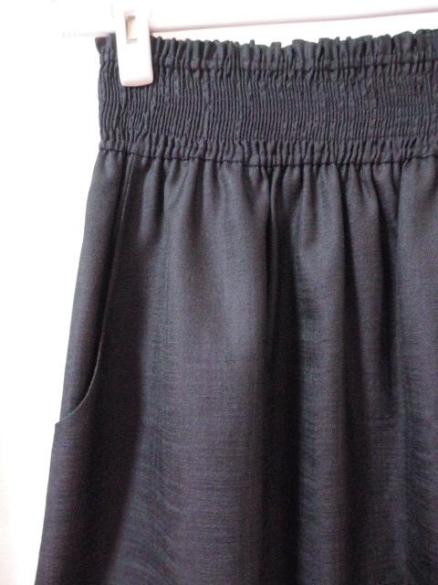 値下 即決有 Bon mercerie ボンメルスリー (株)ワールド 濃いグレー スカート ウエストゴム 38 日本製 〒250_画像3