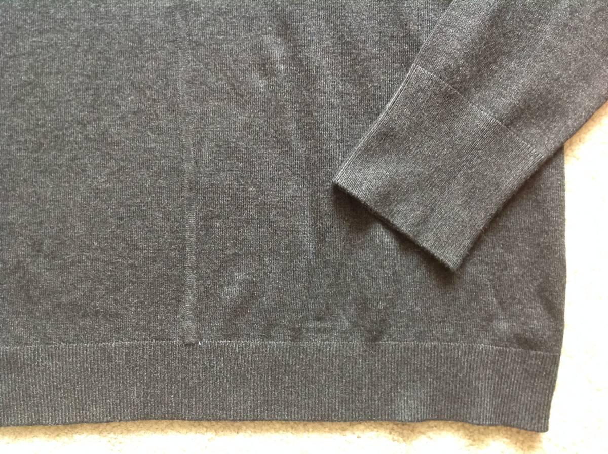 Karl Lagerfeld Paris今季新品M♪チャコールグレーパールネックニットセーター_画像5