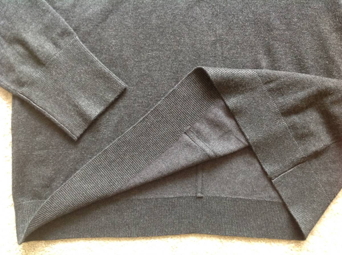 Karl Lagerfeld Paris今季新品M♪チャコールグレーパールネックニットセーター_画像6
