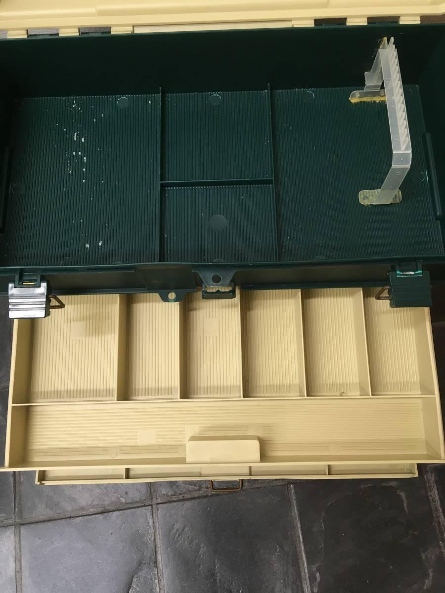 中古/釣り具 タックルボックス PLANO 5757 made in U.S.A. プラノ プラボックス 4段 上部収納 /釣り具店 360° 釣具 委託品_画像5