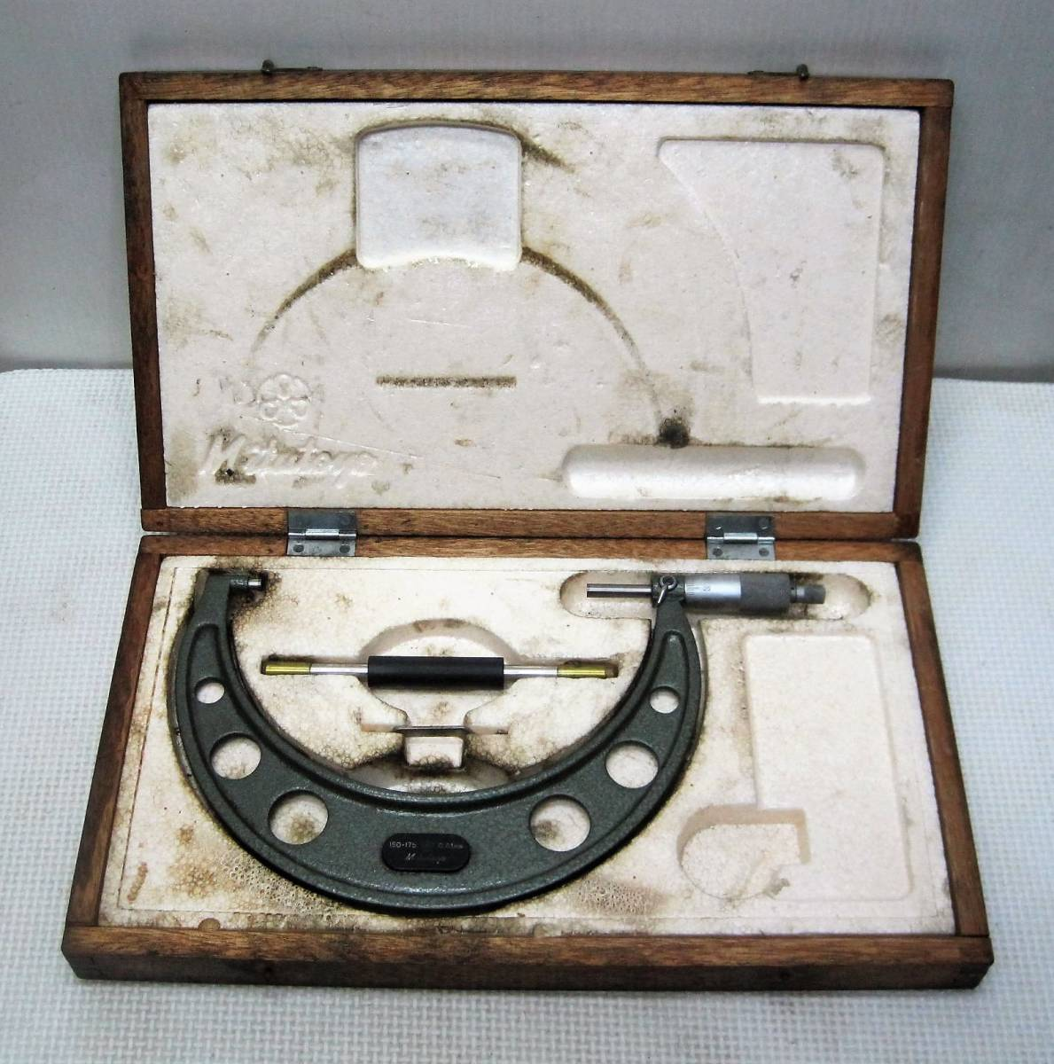 【ミツトヨ】(1) マイクロメーター/ 150-175/ 0.01mm 木箱 mitutoyo 測定/精密/計測/工具/高精度/USED品_画像1