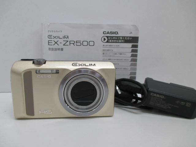 カメラ祭 CASIO カシオ EX-ZR500 デジタルカメラ EXILIM ゴールドカラー 動作良好 デジカメ カメラ