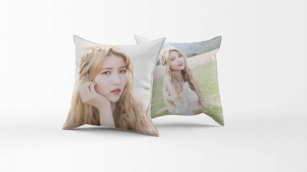 GFRIEND(ジーフレンド) ソウォン  両面印刷 枕カバー (A)  40cm×40cm _画像1