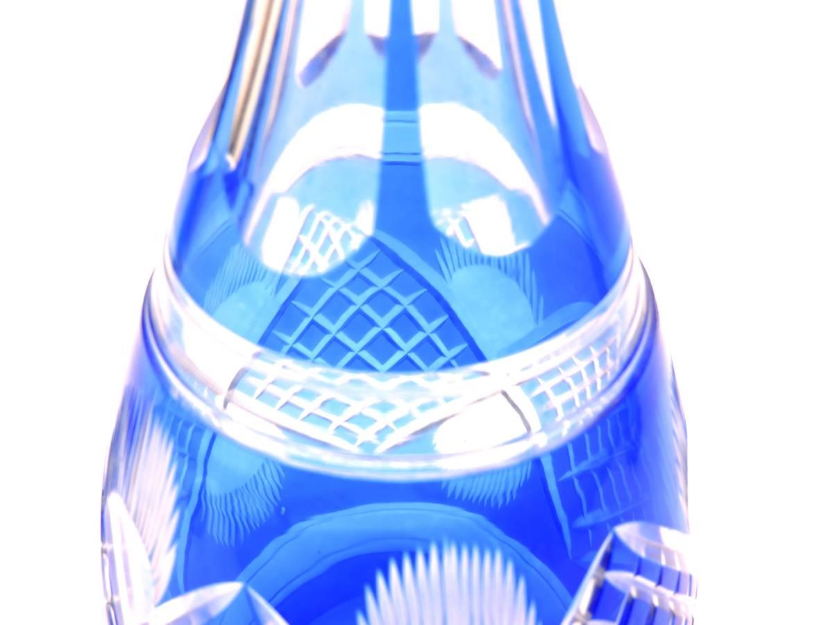 ☆アンティーク☆切子☆硝子☆デキャンタ☆青☆希少☆カットガラス☆レア☆時代物☆_画像3