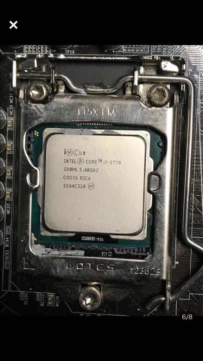 (72) corei7-3770 3.40GHZ メモリー2枚 パソコンPC ジャンク品_画像6