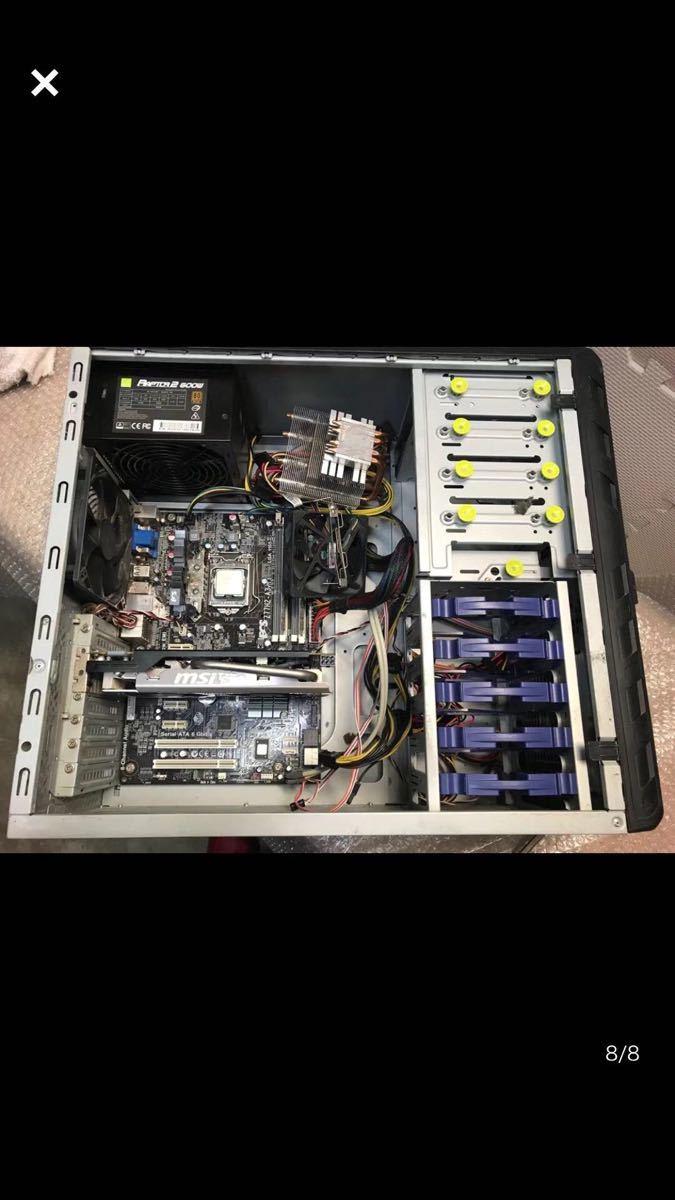 (72) corei7-3770 3.40GHZ メモリー2枚 パソコンPC ジャンク品_画像8
