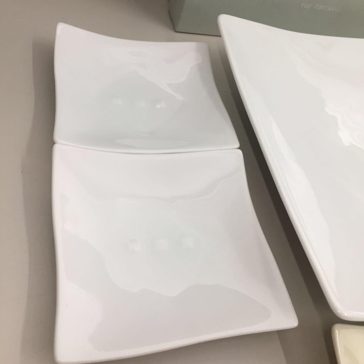 未使用 たち吉 釉 角皿 銘々皿 取り分け揃 箱入り 橘吉 和食器 小皿 自己保管_画像6