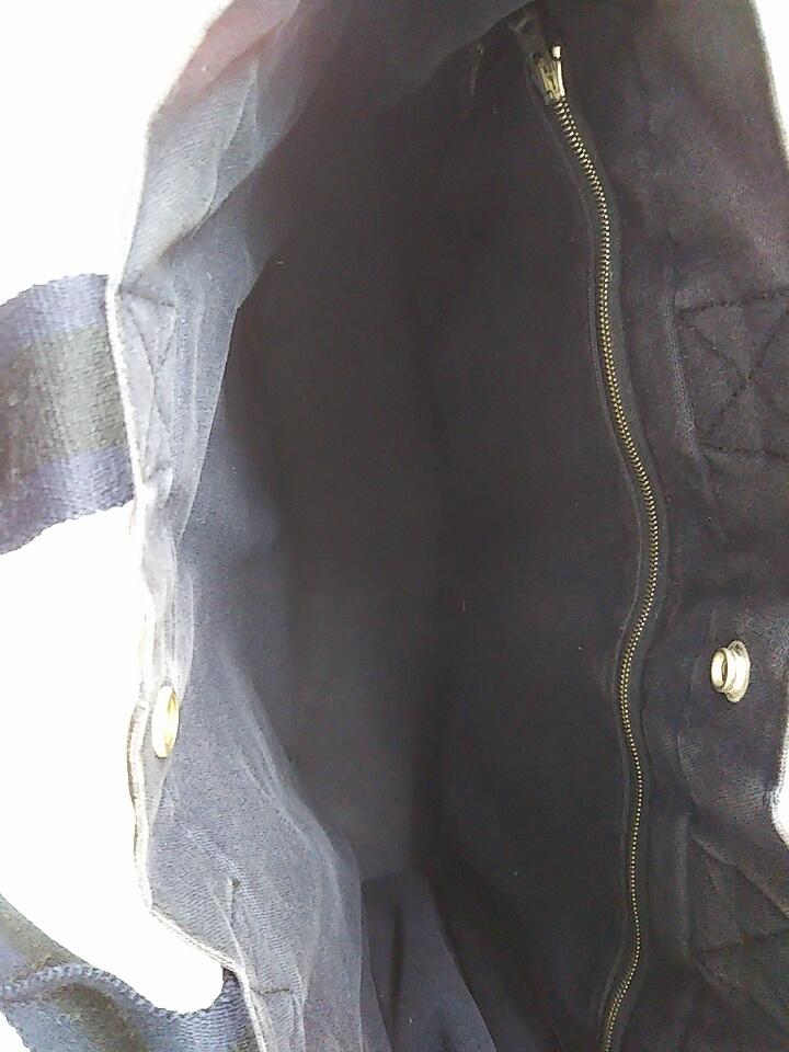 【即決】【HERMES】 エルメス フールトゥMM ハンドバッグ バッグ 鞄 ブラック ネイビー 黒 紺色 角スレ有り 汚れ有り 中古_画像3