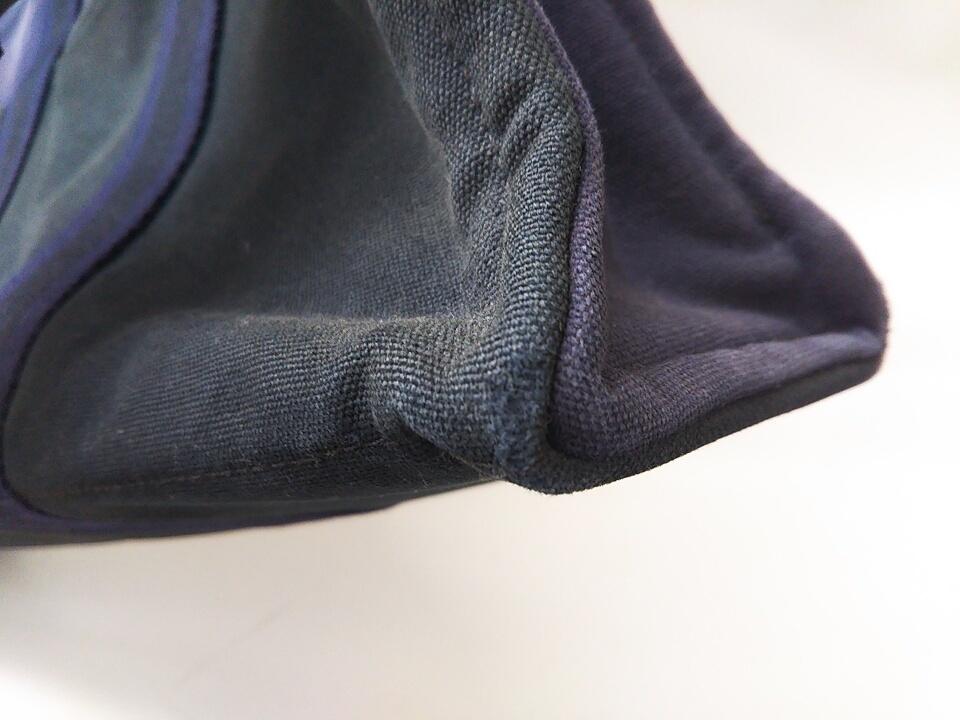 【即決】【HERMES】 エルメス フールトゥMM ハンドバッグ バッグ 鞄 ブラック ネイビー 黒 紺色 角スレ有り 汚れ有り 中古_角スレがございます。