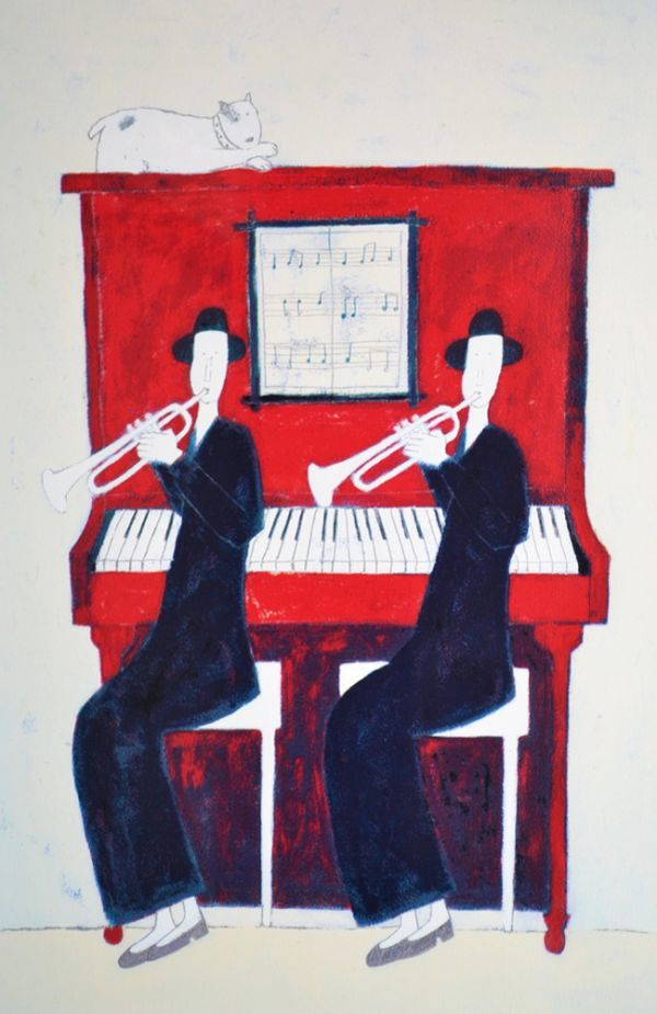 □リトグラフ□アノラ・スペンス「Ladies at the Piano」 AP版 ※真作保証