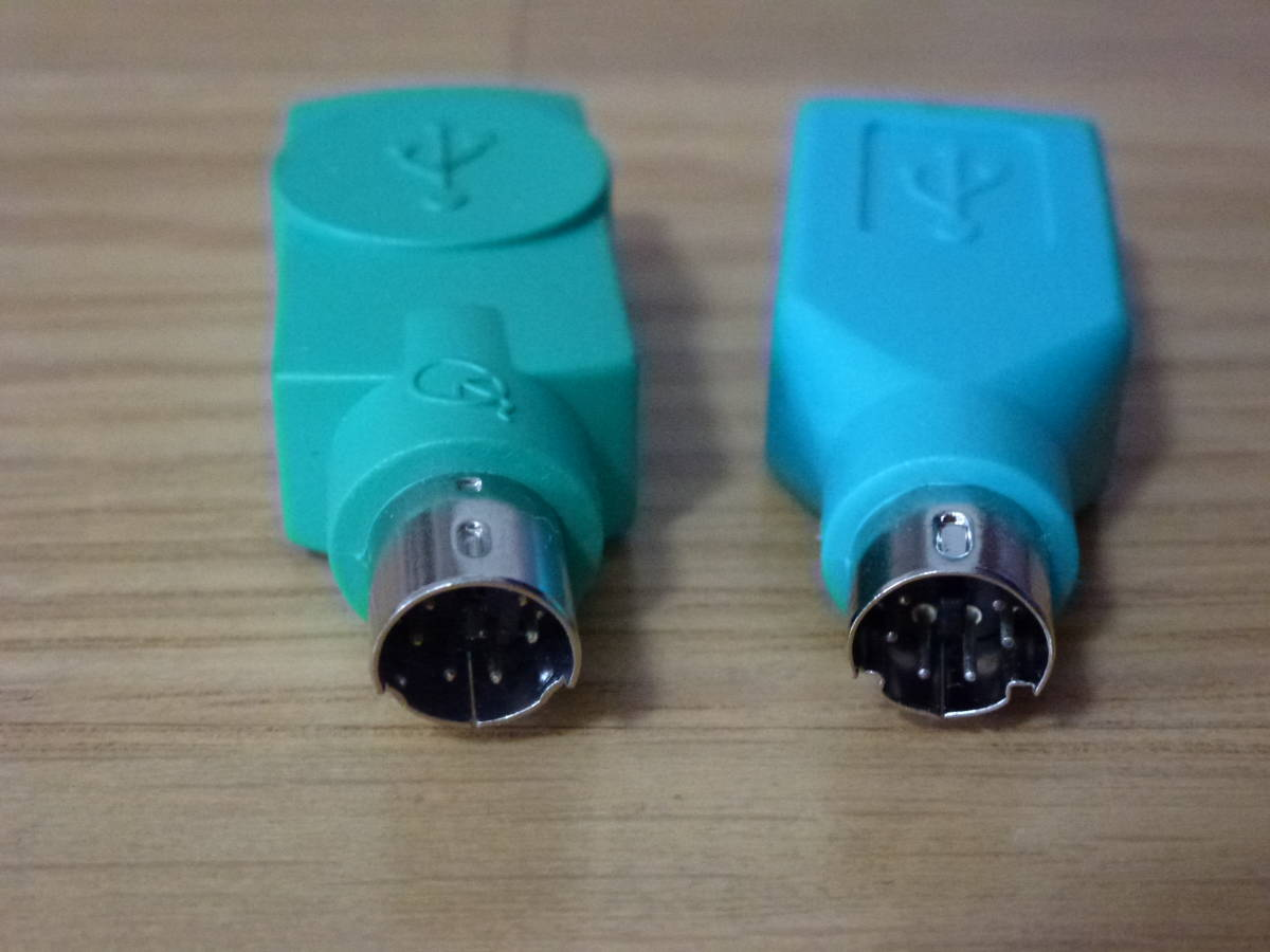 送料無料 2個 PS/2 USB 変換コネクタ データ通信 マウス キーボード 中古 使用頻度少ない 他にケーブルあり まとめ発送可_画像2