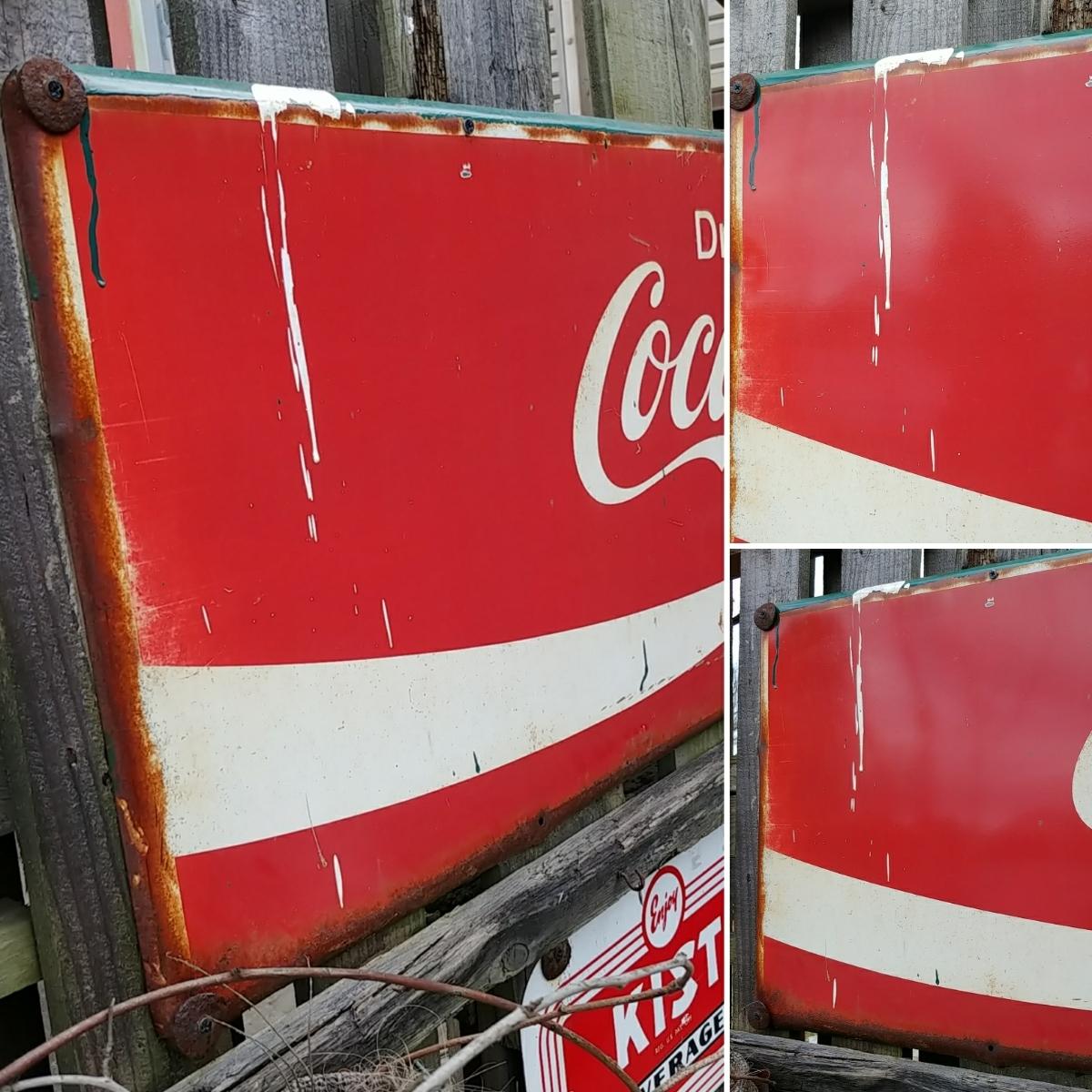 ☆AMERICAN VINTAGE SING☆Coca-Cola (コカ・コーラ)大型 フロント看板(非売品)#店舗什器#世田谷ベース #ガレージライフ_画像7