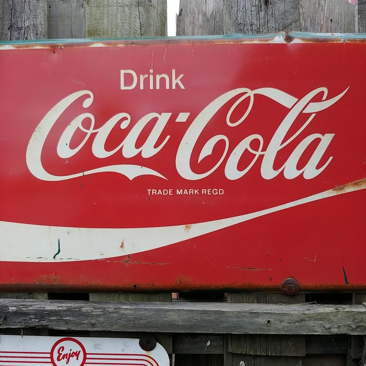 ☆AMERICAN VINTAGE SING☆Coca-Cola (コカ・コーラ)大型 フロント看板(非売品)#店舗什器#世田谷ベース #ガレージライフ_画像4