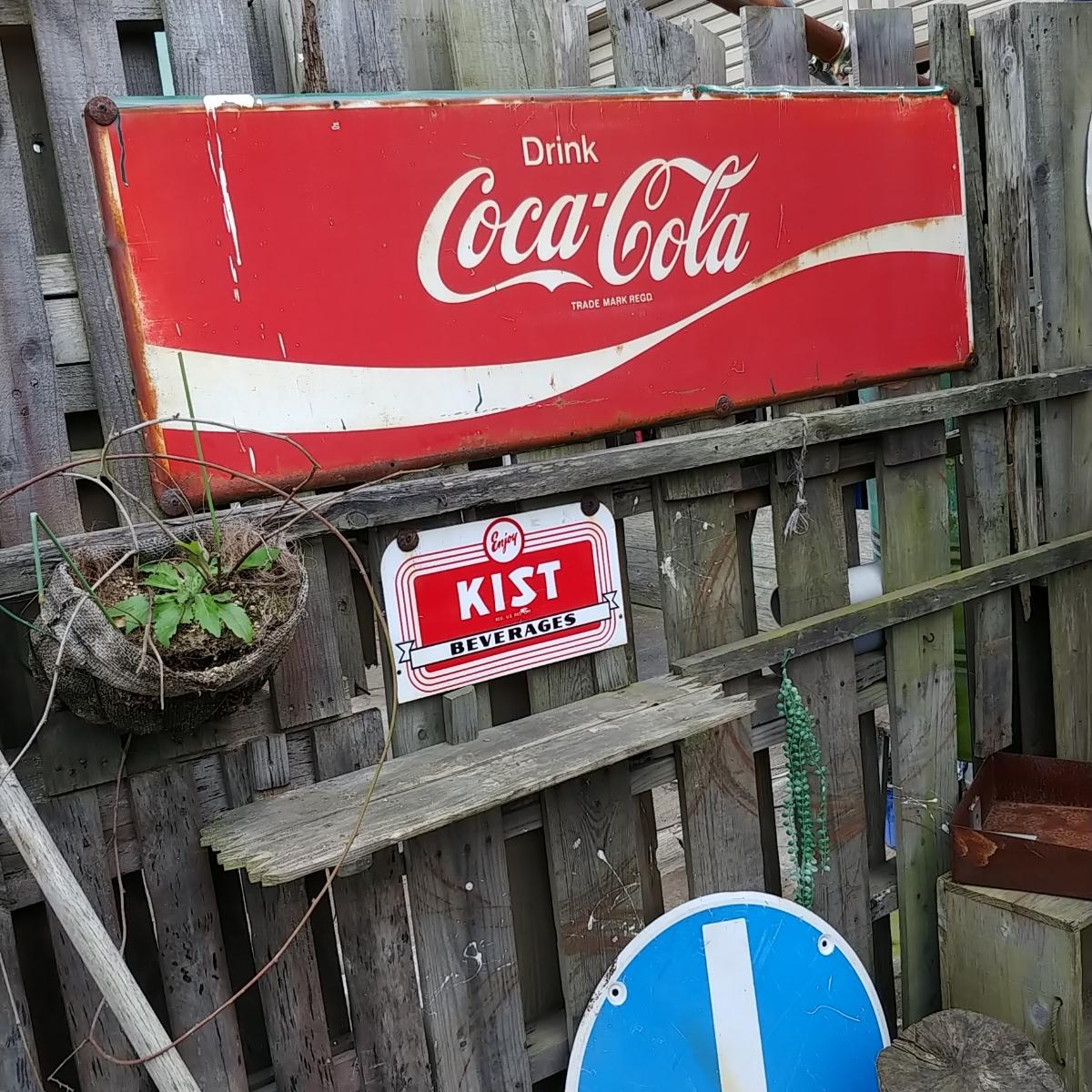 ☆AMERICAN VINTAGE SING☆Coca-Cola (コカ・コーラ)大型 フロント看板(非売品)#店舗什器#世田谷ベース #ガレージライフ_画像2