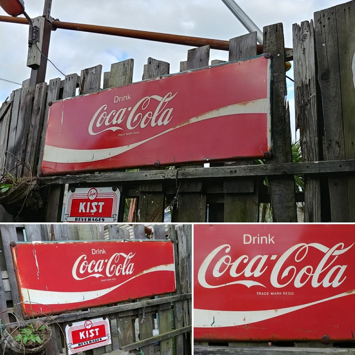 ☆AMERICAN VINTAGE SING☆Coca-Cola (コカ・コーラ)大型 フロント看板(非売品)#店舗什器#世田谷ベース #ガレージライフ_画像6